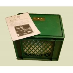 Beetbox mit 500 Würmer in Substrat, Wurmkiste fürs Beet