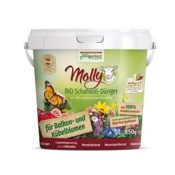 Molly BIO Schafwolldünger für Balkon- und Kübelblumen 850g