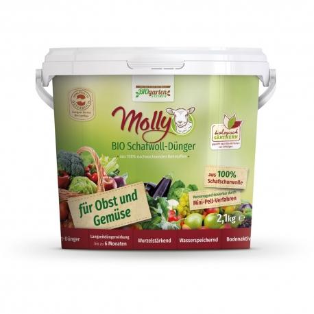 Molly BIO Schafwolldünger für Obst und Gemüse 2,1kg, 1kg, Molly