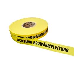 Achtung Erdwärmeleitung 250lfm - Gelb, Erdwärme, Warnbänder