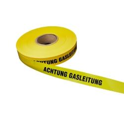 Achtung Gasleitung 250lfm - Gelb, Gasleitung, Warnbänder