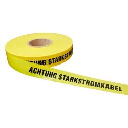 Achtung Starkstromkabel 250lfm - Gelb, Achtung Starkstromkabel