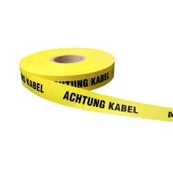 Achtung Kabel 250lfm - Gelb, Achtung Kabel, Warnbänder
