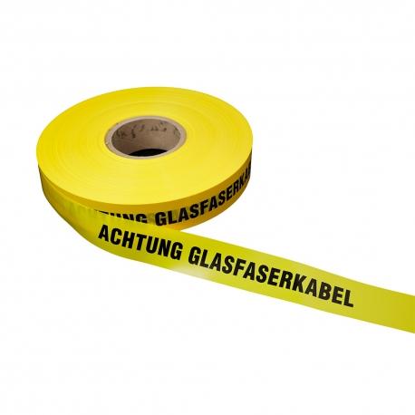 Achtung Glasfaserkabel 250lfm - Gelb