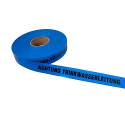Achtung Trinkwasserleitung 250lfm - Blau
