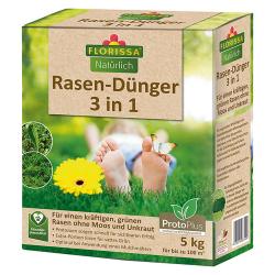 Rasendünger 3 in 1 Florissa 5 kg, Florissa Rasendünger 3in1 5kg