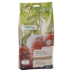 Manna Bio Garten- und Gemüsedünger 1kg, 674301, Hauert Manna