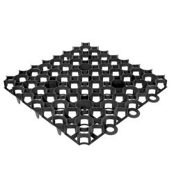 Rasengitter 500x500x40mm schwarz, Weggestaltung Garten