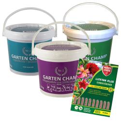 Jahresvorrat GartenChamp Nr. 1 Dünger | Sorte je nach Pflanze