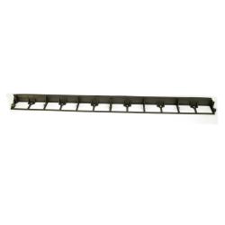 Rasenkante Länge:1000mm Höhe: 45mm - schwarz, Blumenbeet